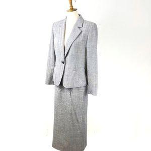 Pendleton Workwear Skirted Suit Blazer Set, 8